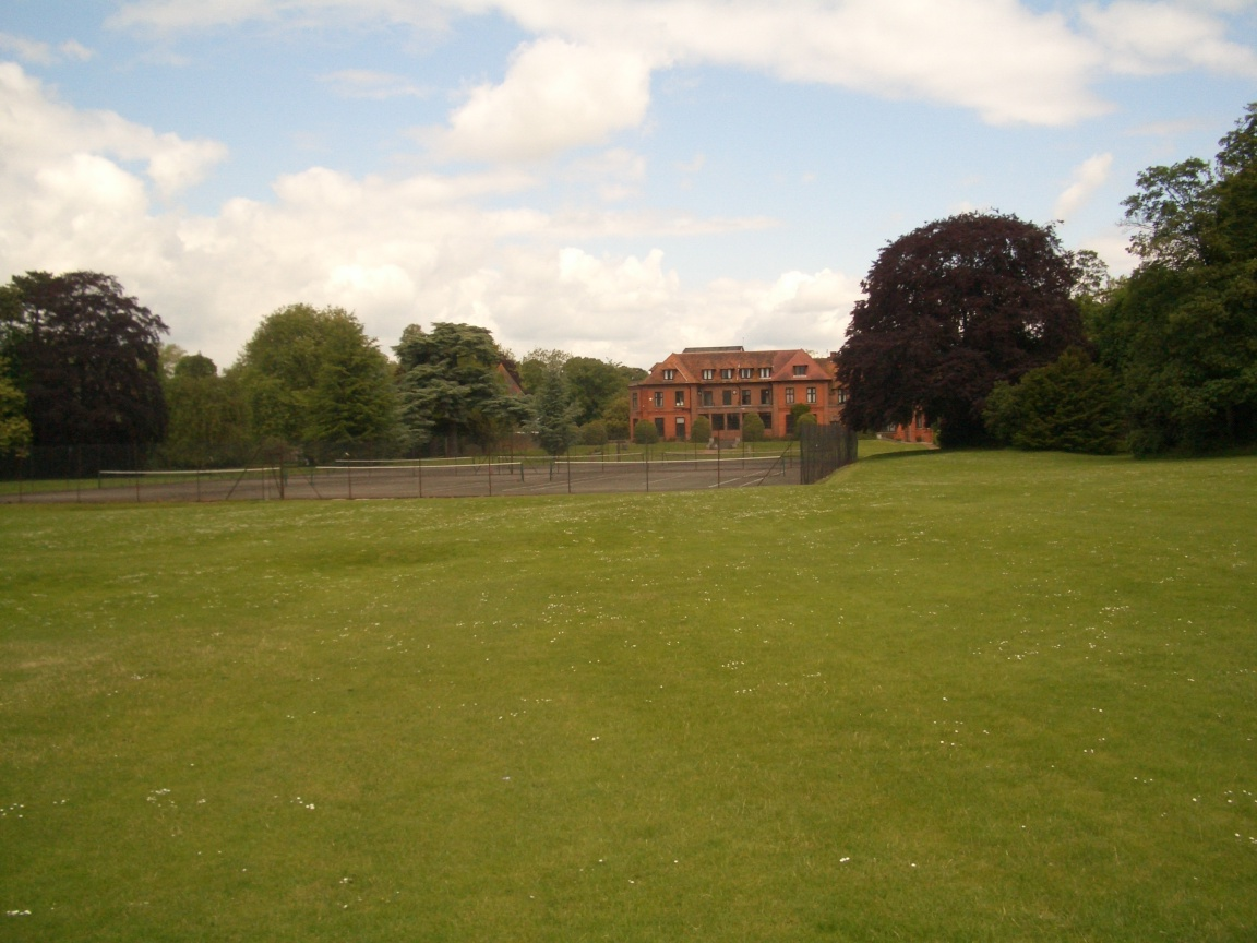 Carmel College: Tennis courts & Mansion House