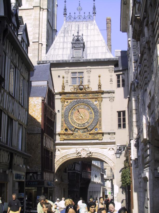 Rouen - The Grand Orange clock